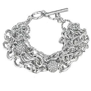 Chloe + Isabel Heirloom Chain Pave Bead Bracelet